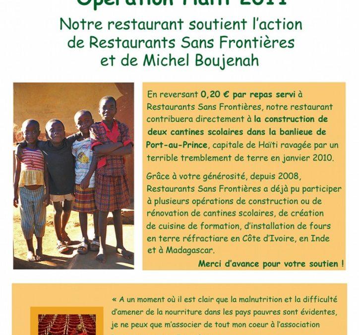 Mobilisation pour Haïti – Décembre 2010