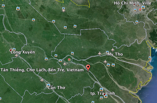 Cho Lach Vietnam Google Earth