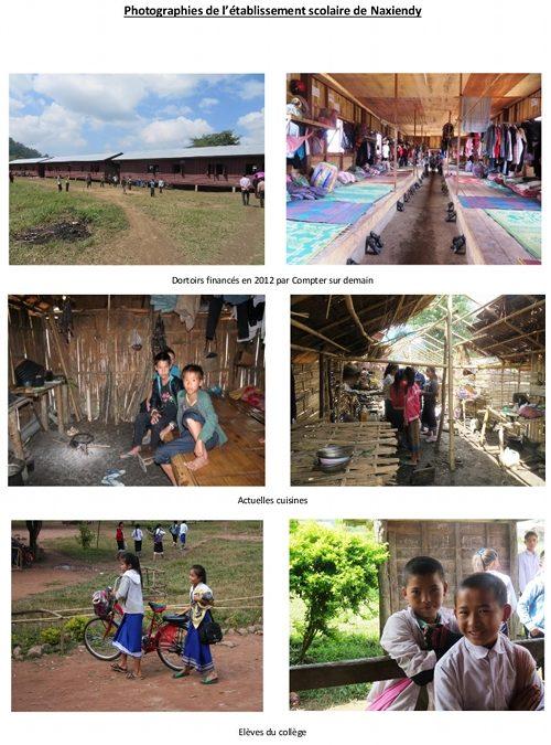 Construction de deux cuisines scolaires à Naxiendy au Laos – Juil. 2014