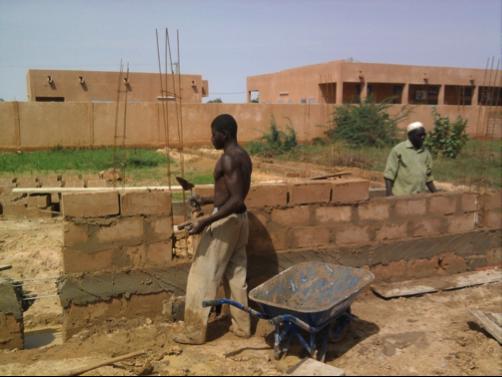 Construction d'une cantine scolaire au Niger – Sept. 2014