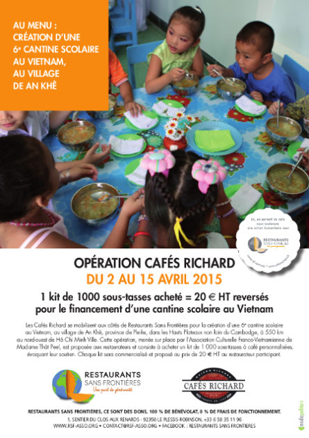 Nouvelle cantine scolaire au Vietnam avec Cafés Richard – Avril 2015