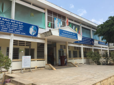 Visite de la 5è cantine scolaire financée par RSF au Vietnam – Mars 2016