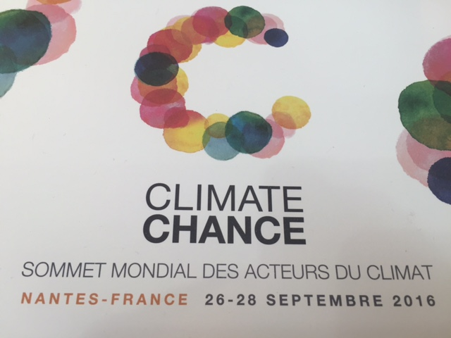 RSF au Climate Change (Climate Actors World Summit) – Sept 2016