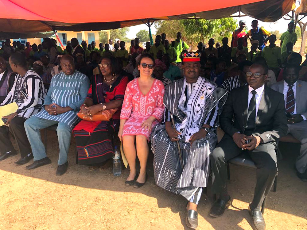 Collège Hampanli inauguration Décembre 2018 Elisabeth Terrien Présidente fondation CAJJED partenaire RSF