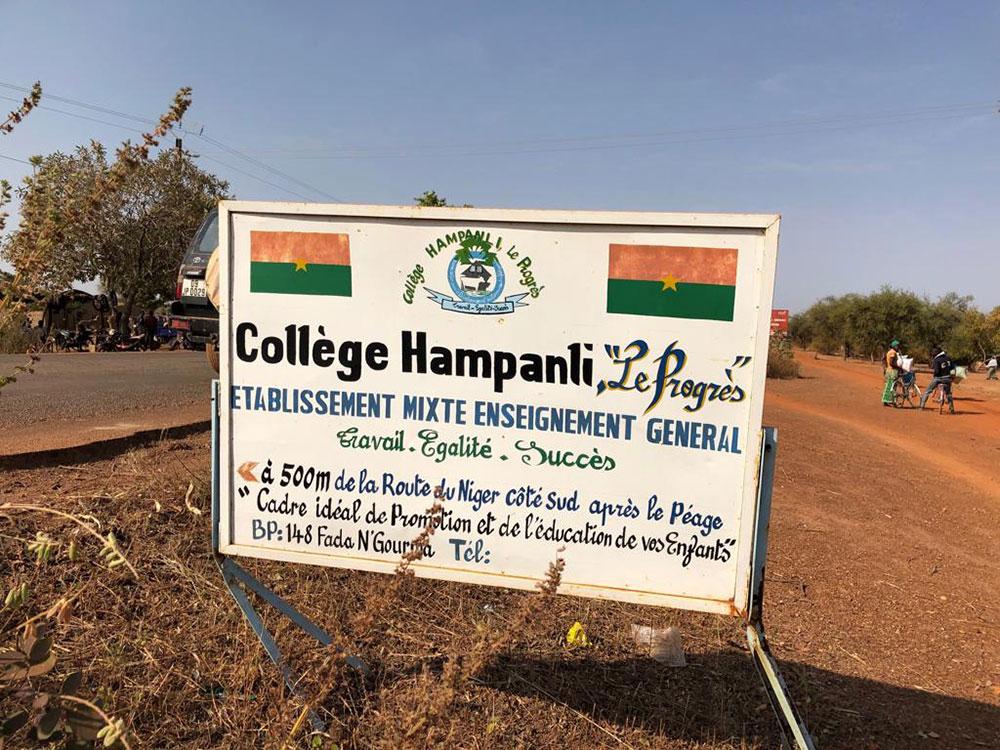 Collège Hampanli Burkina-Faso