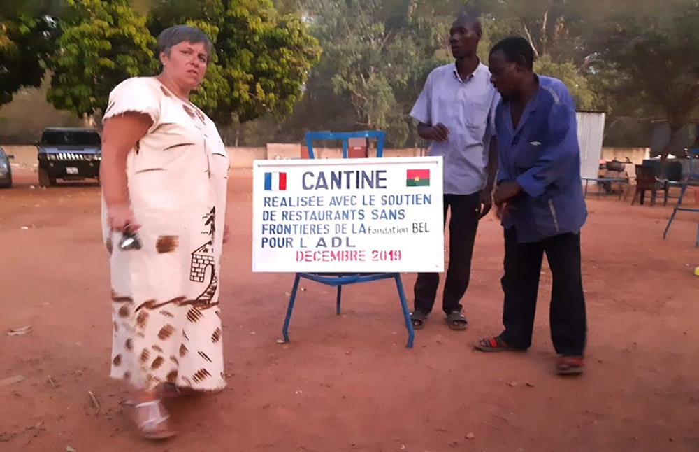Inauguration de la cantine Loanga